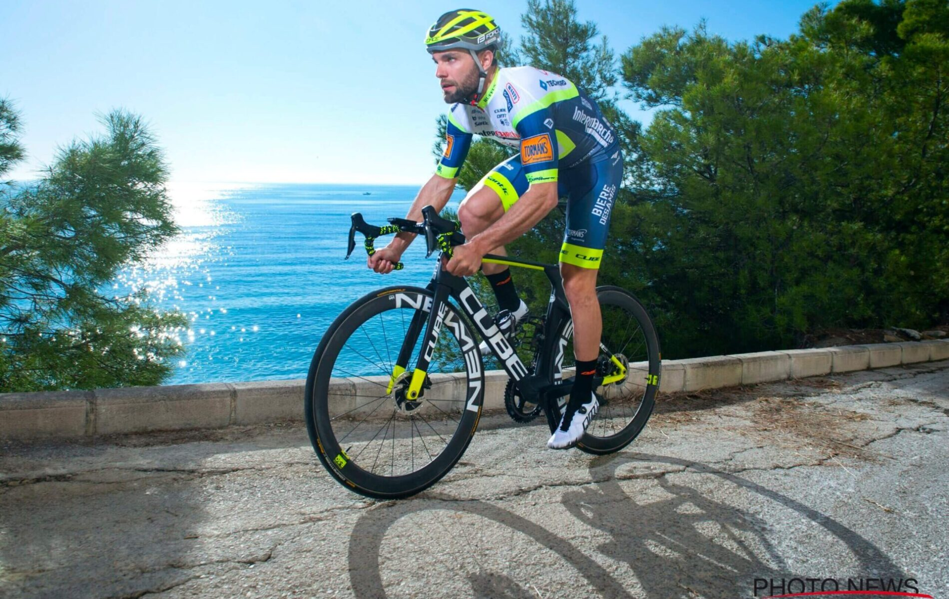 ALFAZ DEL PI, SPAIN - JANUARY 15 : PASQUALON Andrea (ITA) of Intermarche-Wanty-Gobert Materiaux Pro Cycling Team pictured during a photo shoot session at the Intermarche-Wanty-Gobert Materiaux Pro Cycling Team 2021 winter training camp on January 15, 2021 in Alfaz Del Pi, Spain, 15/01/2021 ( Photo by Vincent Kalut / Photonews